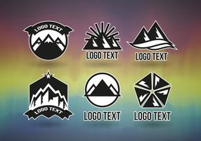 Montains logos vector profissional grátis