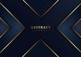 forma x azul com detalhes dourados