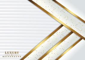 sobreposição de glitter e camadas forradas douradas em branco vetor