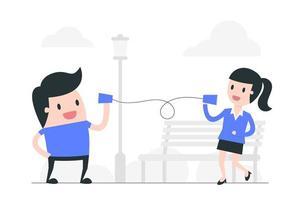 ilustração de conceito de comunicação de distanciamento social vetor