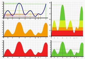 Vetores de gráfico de curva de Bell