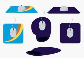 Conjunto de vetor de mouse pad