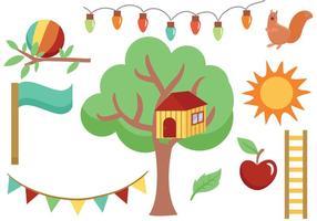 Free Treehouse e Backyard Vectors