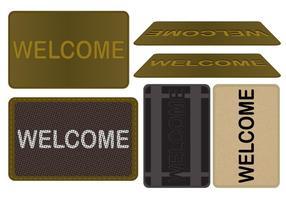Conjunto de vetores de tapete de boas-vindas