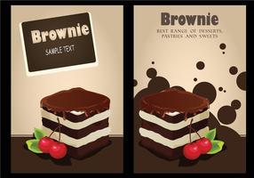 Vetor de fundo do convite brownie