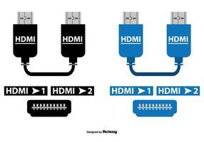 Conjunto de cabos de vetores HDMI