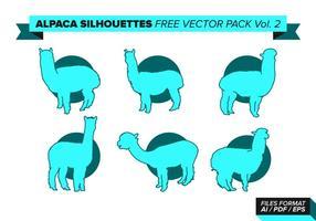 Silhueta de alpaca pacote de vetores grátis vol. 2