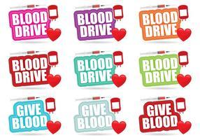 Títulos de Blood Drive vetor