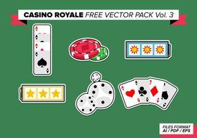 Pacote de vetores grátis do casino royale vol. 3