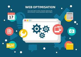 Vector gratuito de otimização da Web