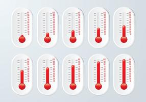 Conjunto de gráficos do termômetro vetor