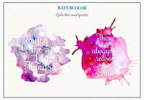 Salpicos grátis de aquarela vetorial