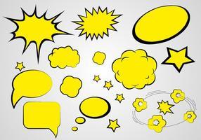 Vector de fala de quadrinhos grátis