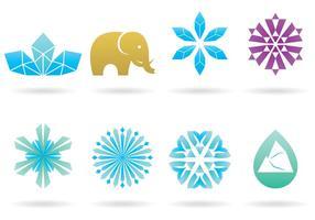 Logotipos da Idade do Gelo vetor