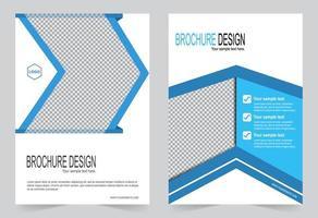 conjunto de modelo de capa de relatório anual de forma azul e branca vetor