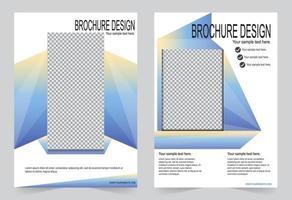 modelo de capa de relatório anual prisma colorido vetor