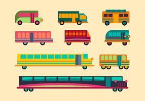 Pacote de vetores de minibus grátis