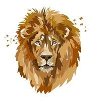 logotipo animal cabeça de leão vetor