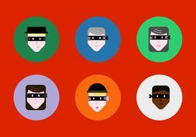 Vetores grátis de rostos de roubo