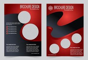 capa vermelha com espaço de imagem do círculo. vetor