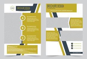 modelo de panfleto design preto e amarelo vetor
