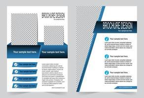 capa azul para modelo de folheto vetor