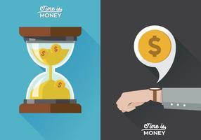 Poster do vetor O tempo é dinheiro
