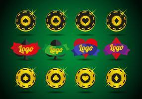 Vector de elementos do logos do casino
