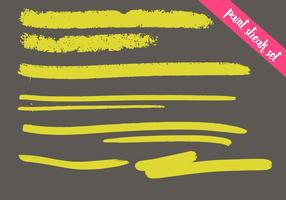 Conjunto de vetores de Paint Streak - Colorido