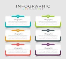 projeto de layout de infográfico de negócios modernos vetor