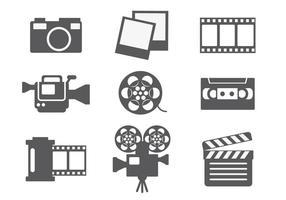 Vector de ícones de edição de vídeo