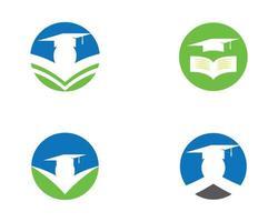 educação redondo conjunto de logotipo circular vetor