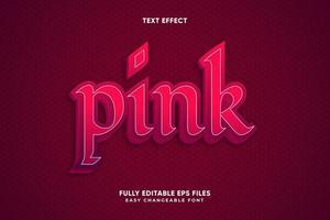 efeito de texto rosa em camadas vintage vetor