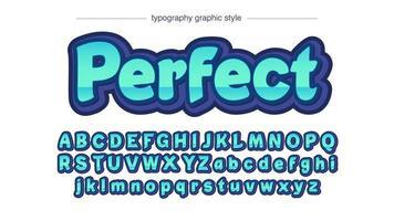 tipografia 3d sans serif bold (realce) verde brilhante vetor