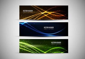 Vector livre cabeçalhos coloridos abstratos