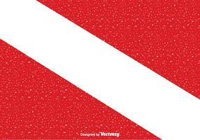 Bandeira de mergulho de vetor grátis