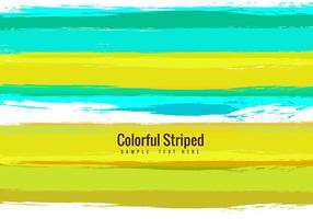 Vector colorido colorido com fundo listrado