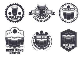 Conjunto de vetores de etiquetas Beer Pong