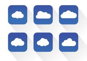 Vetores de ícones da nuvem