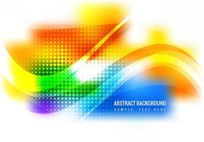 Fundo de vetor de ondas coloridas grátis