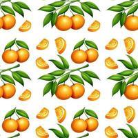 sem costura padrão laranja isolado no branco vetor