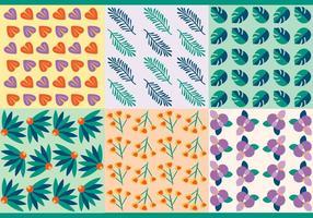 Padrões de vetores livres de folhas tropicais