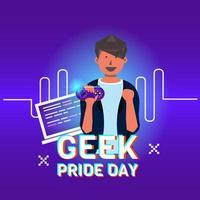 projeto do dia do orgulho geek vetor