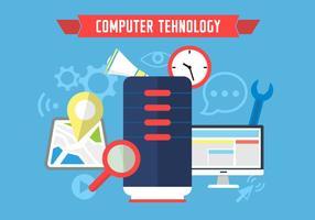 Ícones de Tehnologia de Computador vetor
