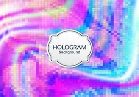 Fundo de holograma digital de vetor livre