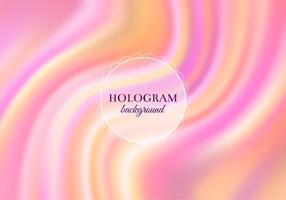 Fundo de holograma quente vetor livre