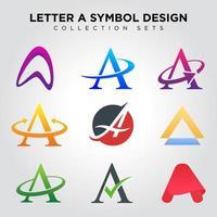 letra de um símbolo vetor