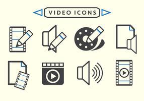 Vetores de edição de vídeo