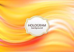 Vetor livre holograma laranja vetor
