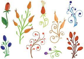 Vetores de ornamentos de roseira grátis